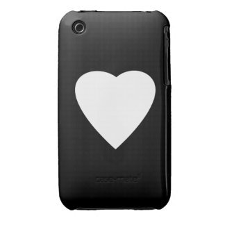 Black and White Love Heart Design. iPhone 3 Covers