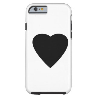 Black and White Love Heart Design. Tough iPhone 6 Case