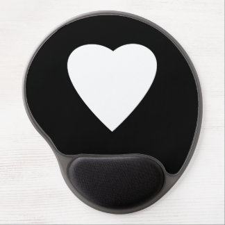 Black and White Love Heart Design. Gel Mouse Pads