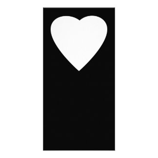 Black and White Love Heart Design. Photo Card Template