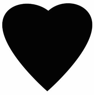 Black and White Love Heart Design. Photo Sculpture Decoration