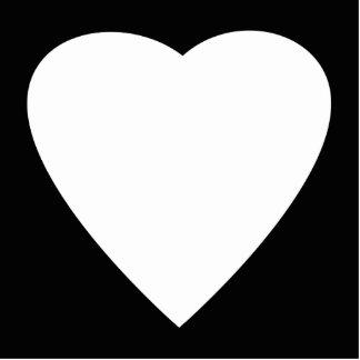 Black and White Love Heart Design. Photo Sculpture Magnet