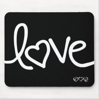 "Black and White ""love"" mouse pads"