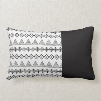 Black and White Lumbar cushion Traces