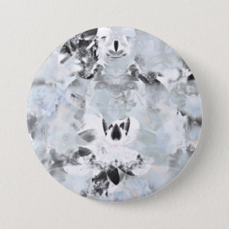 Black and white luxurious abstract modern art 7.5 cm round badge