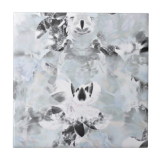 Black and white luxurious abstract modern art ceramic tile
