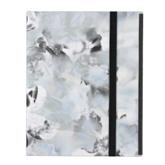 Black and white luxurious abstract modern art iPad case