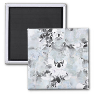 Black and white luxurious abstract modern art magnet