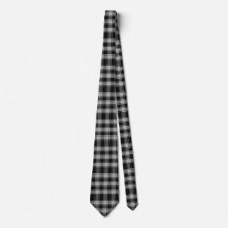 Black and White Macphee Tartan Plaid Neck Tie