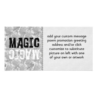 Black and White Magic Customized Photo Card