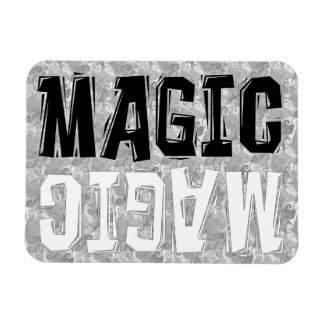 Black and White Magic Rectangular Magnet