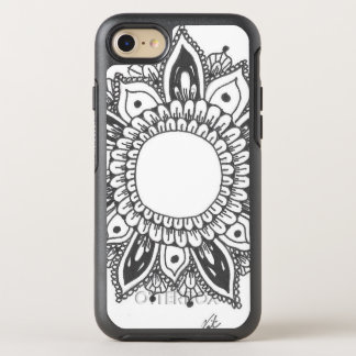 Black and White Mandala Art OtterBox Symmetry iPhone 8/7 Case