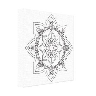 Black and White Mandala by Ana Tar, 407 Canvas Print