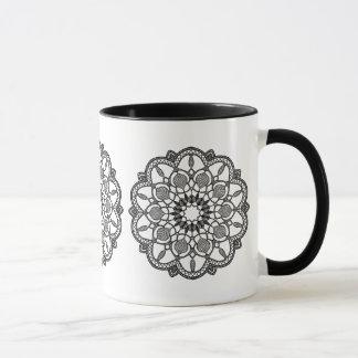 Black and White Mandala Coffee Mug