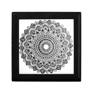 Black and White Mandala Gift Box