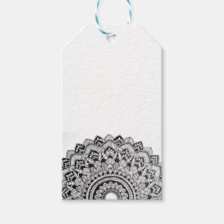 Black and White Mandala Gift Tags