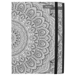 """Black and white Mandala iPad Pro 12.9"""" Case"""