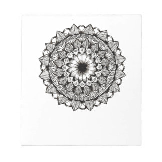 Black and White Mandala Item Notepad