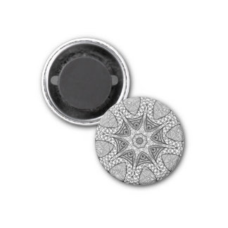 Black and White Mandala Magnet