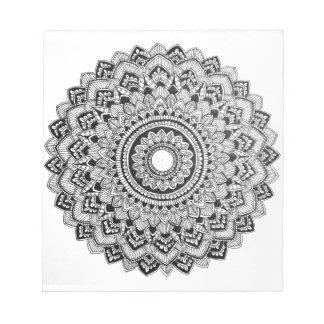 Black and White Mandala Notepad
