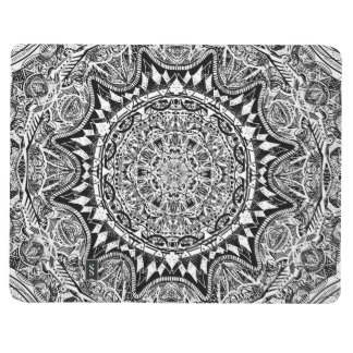 Black and white mandala pattern journal