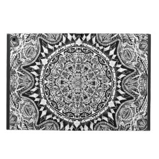 Black and white mandala pattern powis iPad air 2 case