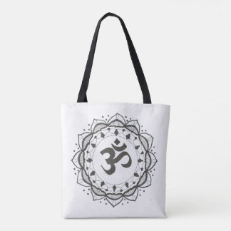 Black and White Mandala Tote