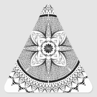 Black and white mandala triangle sticker