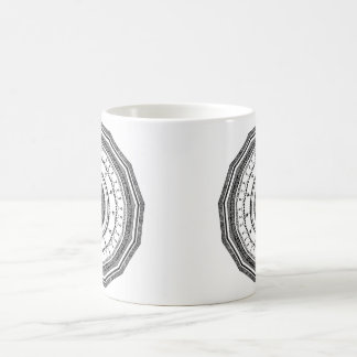 Black and White mandala with yin yang Coffee Mug