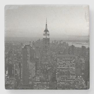 Black and White Manhattan Stone Coaster