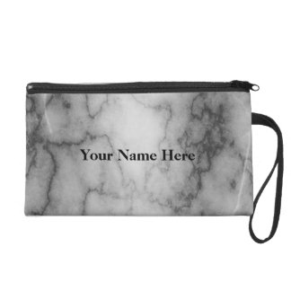 Black and White Marble Wristlet Clutches