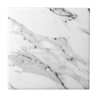 Black and white marble ceramic tile