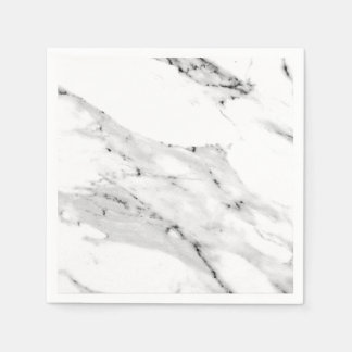Black and White Marble Disposable Napkin
