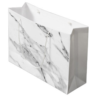 Black and White Marble Large Gift Bag