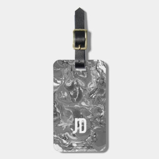 Black and white Marble. Luggage Tag