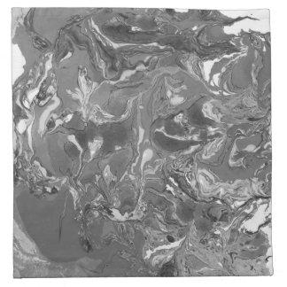 Black and white Marble. Napkin