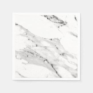 Black and White Marble Paper Napkin