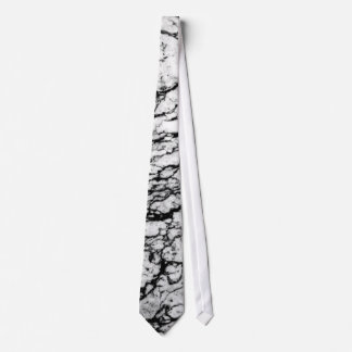 Black and White Marble Stone Pattern Tie