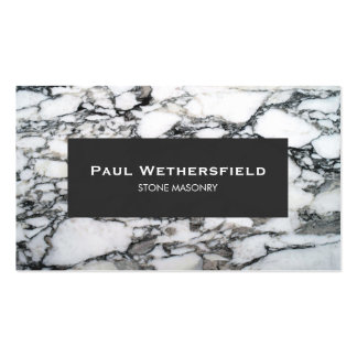 Black and White Marble Stonemason Architect Pack Of Standard Business Cards