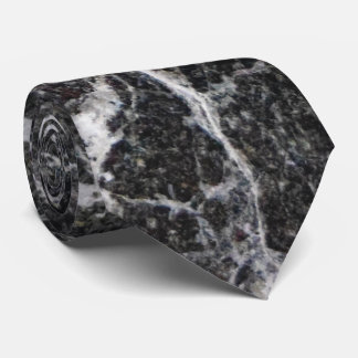 Black and White Marble Texture Tie
