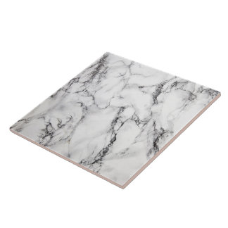 black and white marble tile
