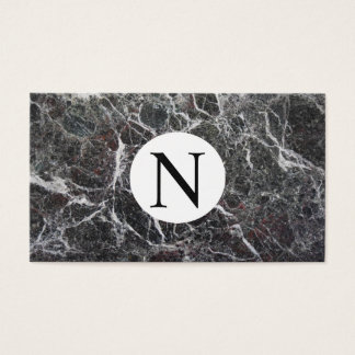 Black and white Marbled Business Card