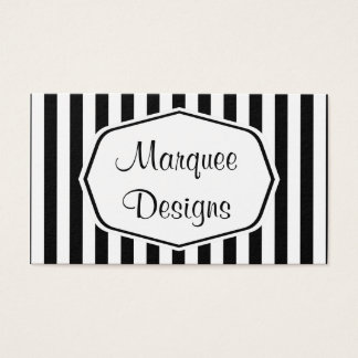 Black and White Marquee Business Card