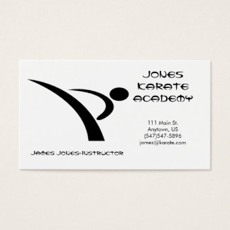 Black and White Martial Arts Business Card