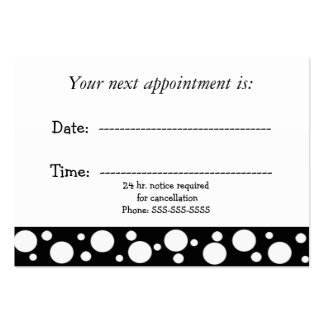 Black and White Medical Appointment Pack Of Chubby Business Cards