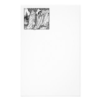 Black And White Medieval Fashions Customized Stationery