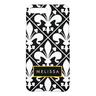 Black and White Medieval French Fleur de Lys iPhone 8 Plus/7 Plus Case
