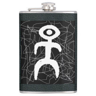 Black and White Mensch Flask