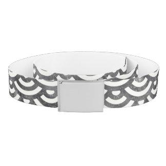 Black and White Mermaid Pastel Pattern Belt