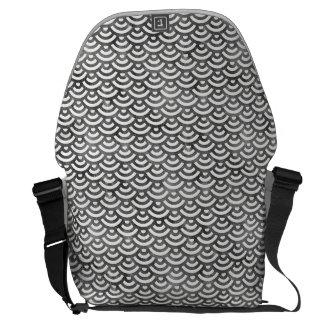 Black and White Mermaid Pastel Pattern Commuter Bag